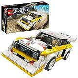 LEGO SpeedChampions 1985AudiSportQuattroS1, Giocattolo con Minifigura del Pilota, Set da Costruzione di Auto da Corsa, 76897