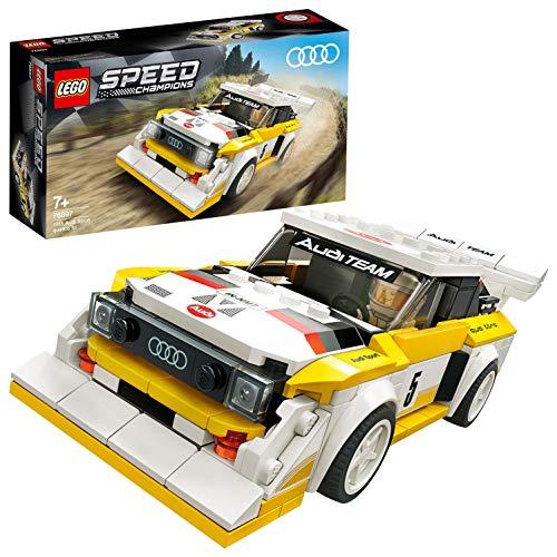 LEGO Speed Champions 1985 Audi Sport quattro S1 con Minifigure, Costruisci e Collaziona la Iconica Auto da Corsa Sportiva, Modello Ricco di Dettagli per Bambini, Collezionisti e Appassionati, 76897