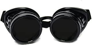 GloFX Steampunk Goggles Tinted - Rave Eyes Gothic Welder Cyber Punk