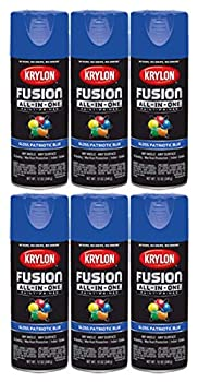 Krylon All-in-One Fusion Gloss Patriotic Blue Spray Paint  6 Pack