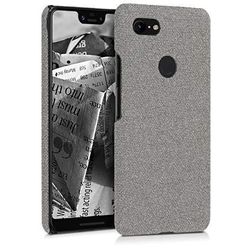 kwmobile Schutzhülle kompatibel mit Google Pixel 3 XL - Hülle - Stoff Cover Handyhülle - Backcover in Hellgrau