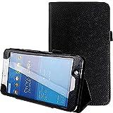 TTYYNN Estuche para tabletaPara Samsung Galaxy Tab 4 7.0 Funda Plegable de Cuero PU Funda con Soporte para Samsung Galaxy Tab 4 7.0, Negro