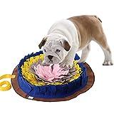 Alfombra olfativa redonda para mascotas. Lavable y multicolor