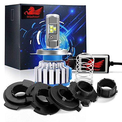 WinPower H4/Ba20d/H6M/P15D25-3 Moto Phares Ampoules Cree LED 40/35W Conversion Kit - 1 Lampe