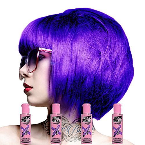 Crazy Colour Semi Permanent Haarfärbemittel Violette No.43 (100ml) Box of 4
