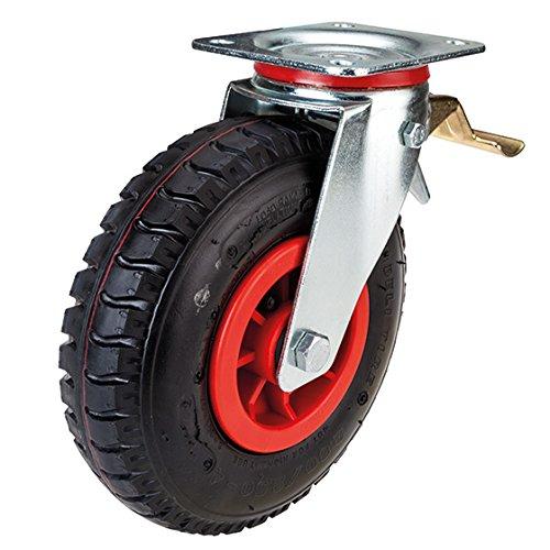 Lenkrolle mit Feststeller 225 mm Luftrad mit Kunststoff-Felge