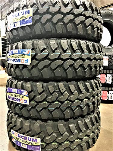 Set of 4 (FOUR) Forceum M/T 08 Mud Tires - LT235/75R15 104/101Q C (6 Ply)