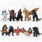 Amazing Godzilla 2 King of The Monster Shin Kaiju Gigan Ghidorah 10 pcs Toy Figures Set Idel Gift Idea