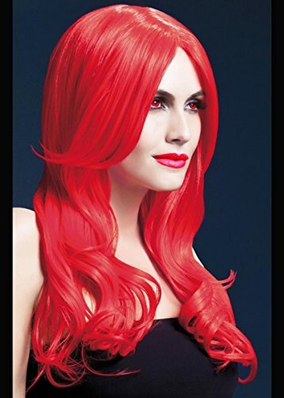 Deluxe gotico lungo rosso ondulato Khloe parrucca