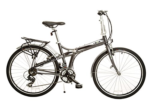 BIKE USA Ubike Swift 21-Speed Full Size Folding Bicycle with 26', 10'/One Size