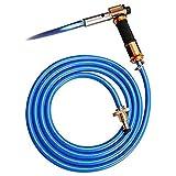 ACAMPTAR Kit Torcia per Gas Liquefatto Ad Accensione Elettronica con Tubazioni per Cottura un Caldo Brasatura Riscaldamento Illuminazione