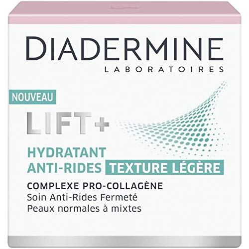 Diadermine Crème visage anti-rides hydratante, texture légère - Le pot de 50ml