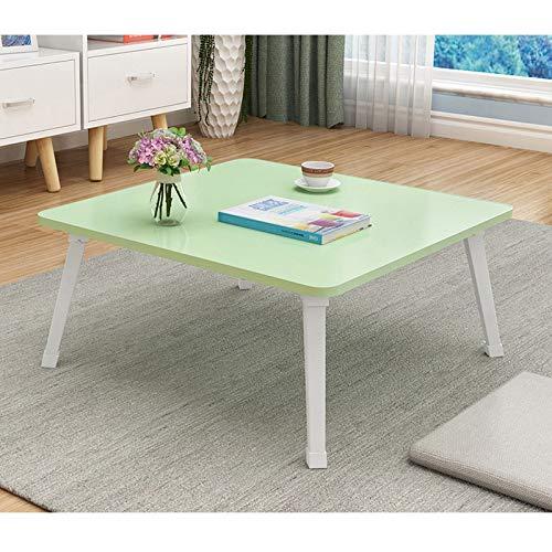 TYOP Tabla portátil, pequeña Mesa Plegable en la Cama, Mesa de Libro de Dormitorio Simple, Mesa de Comedor, Mesa de Oficina, Mesa de Viaje, 60 * 60 * 29 cm (Color : D)