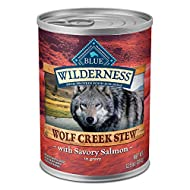 Blue Buffalo Wilderness Wolf Creek Stew High Protein, Natural Wet Dog Food, 12.5-oz cans (Pack of 12)