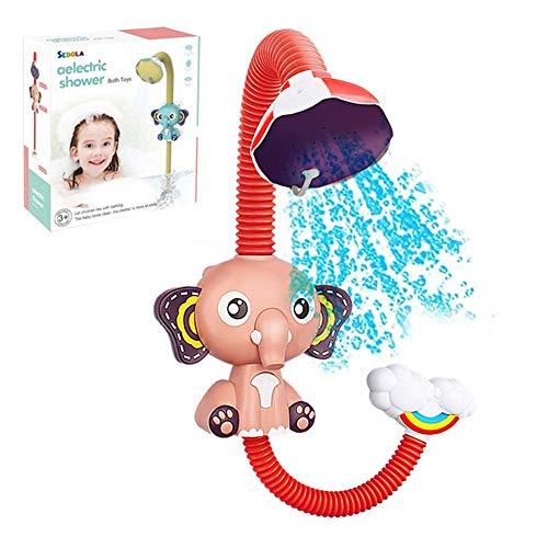 NEU Baby Bad Spielzeug, Mini Cute Elephant Duschkopf Wasserpumpe Squirter Spielzeug mit Saugnapf für Kleinkinder Kinder Jungen Mädchen für Barh Badewanne und Schwimmbad, viel Spaß beim Baden