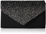 SwankySwans Damen Abby Diamante Envelope Style Bag Tasche, Schwarz (Black), Einheitsgröße