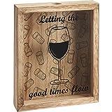 Homes on Trend Bouchon de Bouteille de vin/Bouteille de Bière en Bois 3D Collection Box Display Storage (Bouchon de vin)