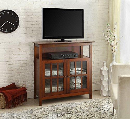 Convenience Concepts Big Sur Highboy TV Stand, Cherry