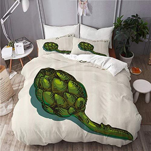 Bedding - Juego de funda de edredón y funda de almohada de microfibra de 135 x 200 cm con 2 fundas de almohada de 50 x 80 cm