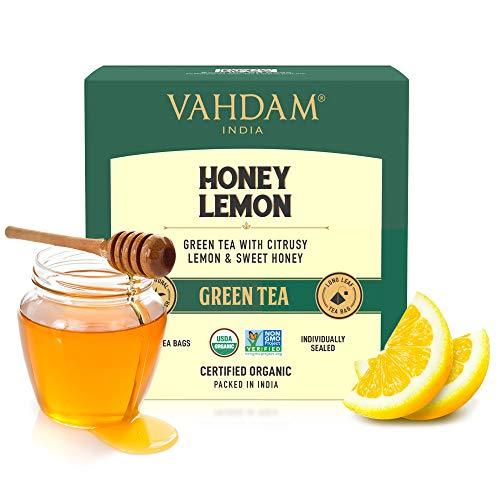 VAHDAM Organic Honey Lemon Tea (Vitamin C Fortified) - 15...