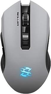 Sharkoon SGM3 - Ratón Gaming Óptico Inalámbrico, 6000 DPI, 7 Botones, Gris