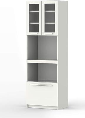 パモウナ 食器棚YC プレーンホワイト 幅60×高さ180×奥行40 日本製 YC-S600R