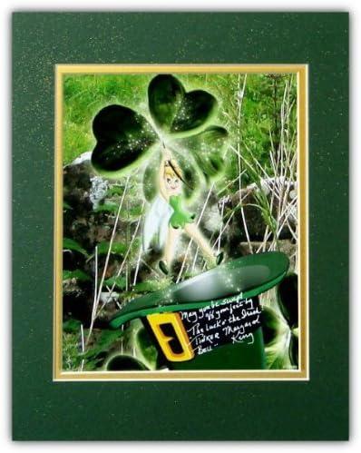 Disney Autographed Regular dealer Tinker Special sale item Bell St. Irish Photo Matted Patrick's