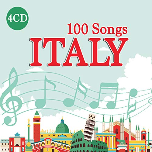 4 CD 100 Songs Italy, Best Italian Music, Luciano Pavarotti, Maria Callas, Mina, Domenico Modugno
