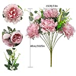vintage artificial peonies silk peony flowers bouquet home wedding decoration, 1 bouquet (pink)