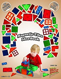 Award Winning Magnetic Stick N Stack 36 full color page Idea book with over 100 structure ideas