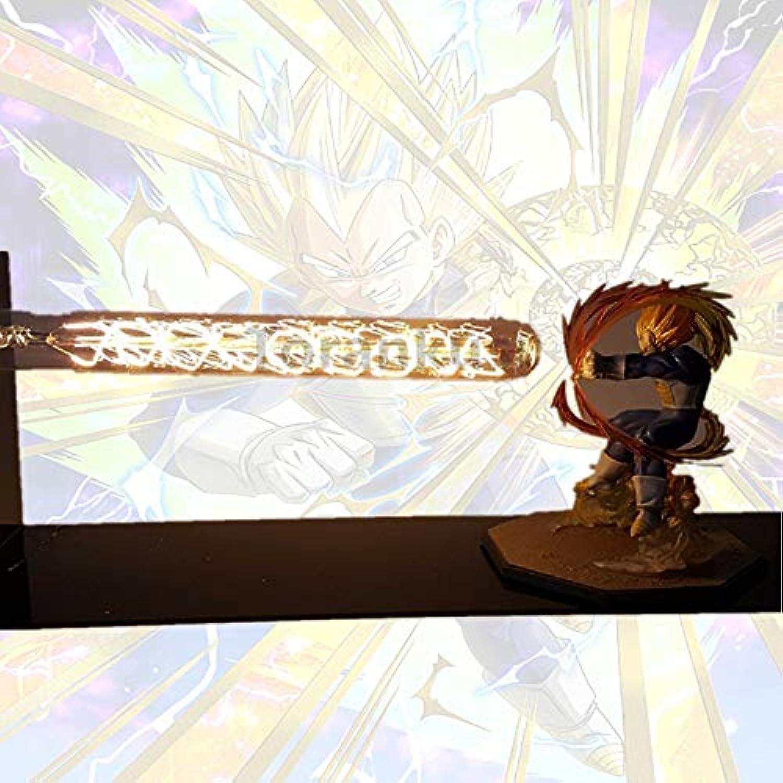 Dragon Ball Z Vegeta Super Saiyan Led Nachtlicht Lampe Dragon Ball Lampara Son Goku Schreibtischlampe