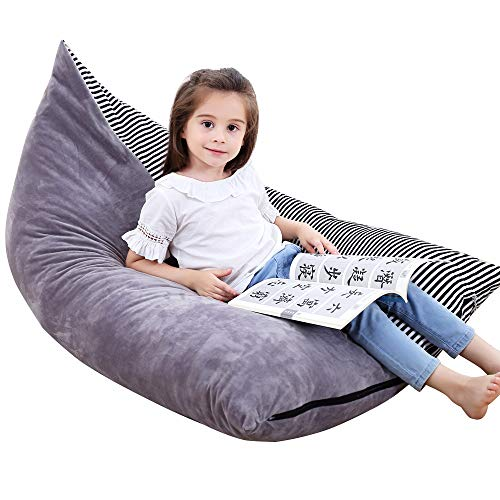 Everfunny Sitzsäcke Für Kinder Sitzsack. Spielzeug Lagerung Organizer Stuffie Sitz, Faltbare Boden-liegende Stuhlsofa. Spielzeuglagerung Tasche Sitz für, Extra große weichen Samt, nur Decktaschen