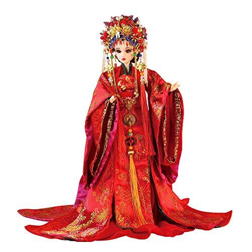 LiGO Ball-Jointed Doll, 13 Zoll Orientalische Eigenschaften China Uralt Brautmakeup Puppe Mit Kleidung Schuhe Und Perücken Puppenliebhaber Sammlung Geburtstagsgeschenke,Song Dynasty