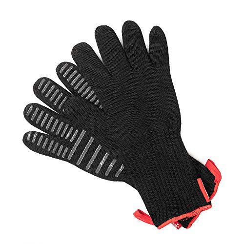 barbecook Hitzebestaendige Grillhandschuhe, Premium Handschuhe Fuer BBQ, Grill, Kamin und Backofen in schwarz, 33 cm