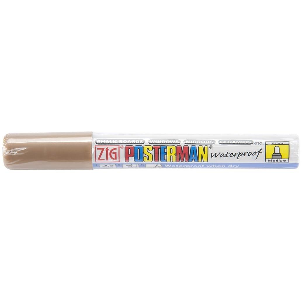 Zig 2mm Posterman Medium Tip Marker, Metallic Brown
