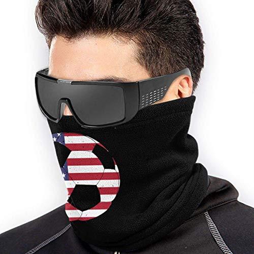 ShiHaiYunBai Halstuch/Kopftuch American Flag Football Soccer Men & Women Face Mask Windproof Neck BandaFor Motorcycling
