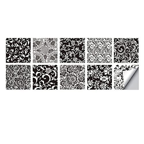 10 pegatinas para azulejos con varios estilos, baño, sala de estar, decoración de cocina, impermeable, a prueba de humedad y resistente al desgaste Las pegatinas de pared son fáciles de operar