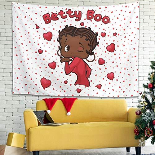 WellWellWell Betty Boop - Tapiz para pared (100 x 150 cm), color blanco