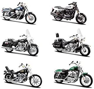 6 Piece Harley Davidson Motorcycle 6pc Set Series 32 1/18 by Maisto 31360-32
