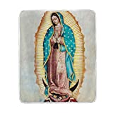 Donnapink Virgin Mary Our Lady of Guadalupe Mother of God 50'x60' Print Super Soft Blanket Warm Polyester Microfiber Bed Blanket Lightweight Sofa Couch Plush Throw Blanket