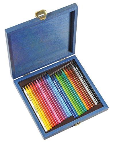 KOH-I-NOOR Progresso Woodless Coloured Pencil Set in Wooden Box (Set of 24)