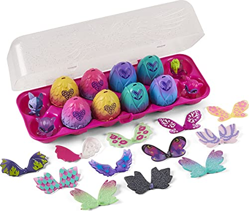 Hatchimals CollEGGtibles, Wilder Wings 12-Pack Egg Carton with Mix and Match Wings