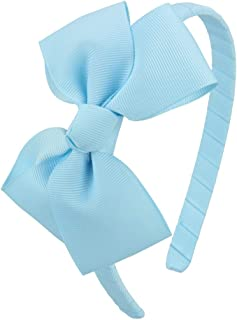 7Rainbows Cute Light Blue Bow Headband for Girls Toddlers.