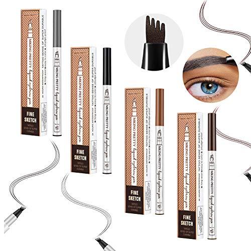 4 punkte augenbrauenstift, microblading augenbrauenstift, eyebrow tattoo pen, augenbrauenstift wasserfest, natürlich und nachhaltig (4 Farben)