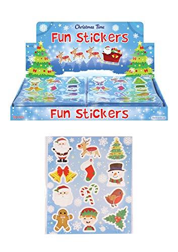 12 Paquets de Stickers Motif de Noël Cadeau idéal, des pochettes surprises ou Favor