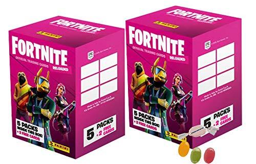 Serie 2 Fortneite 2 Trading Cards Reloaded (2020) - 2 x Blaster Box - je 5 Booster + 2 Bonus Cards zusätzlich erhalten Sie 1 x Fruchtmix Sticker-und-co Bonbon