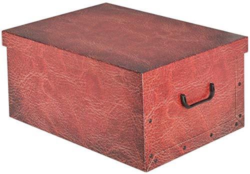 Koopp Grande Aspecto Cuero Cartón Cajas Almacenaje con Tapa Caja Almacenaje Caja...