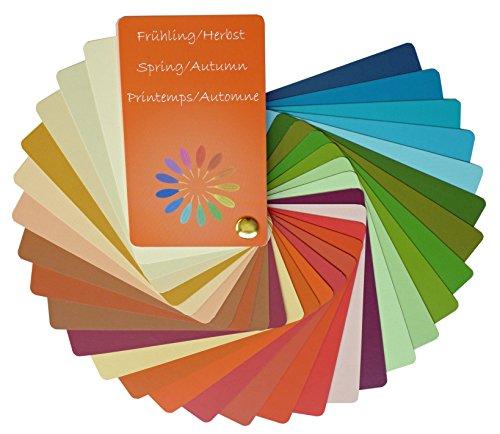Farbpass Frühling/Herbst Mischtyp (warm Spring/Autumn) als Fächer mit 30 typgechten Farben zur Farbanalyse, Farbberatung