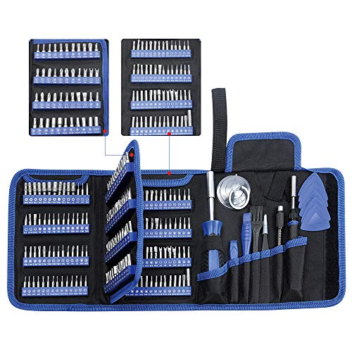 Precision Screwdriver Set, Lifegoo 170pcs All in one Electronics Repair Tool Kit with 156pcs Bits Magnetic Driver Kit & Bag for Repair Computer, PC, MacBook, Laptop, Tablet, iPhone, Xbox, Game Console
