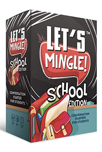 Let's Mingle Conversation Starters School Edition | Classroom Learning | Distance Learning Game | Games For Kids Ages 4-8-12 | Great as Autism Learning Materials | Speech Therapy Materials